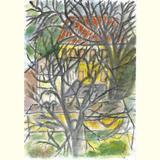 Ursula Huber /Bäume in Nachbarsgarten