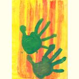 Kinderzeichnungen /Grün Orange