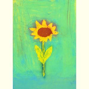 Kinderzeichnungen /Sonnenblume