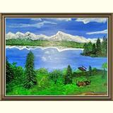 Landschaftmalerei /bergsee
