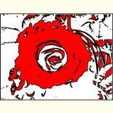 Formen, Farben /Florales Rot / 02