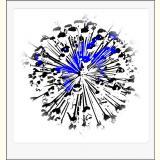 Formen, Farben /Florale Form / 25