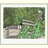 Formen, Farben / 02 /Deck chair- im Ruhestand