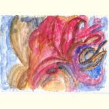 Abstrakt /Rote Blume